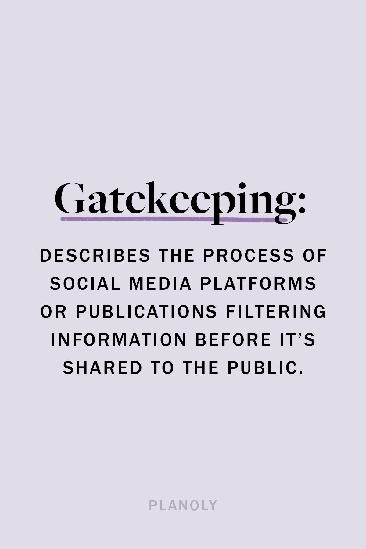PLANOLY - Blog - Gatekeeping and Censorship in Social Media - Image 1