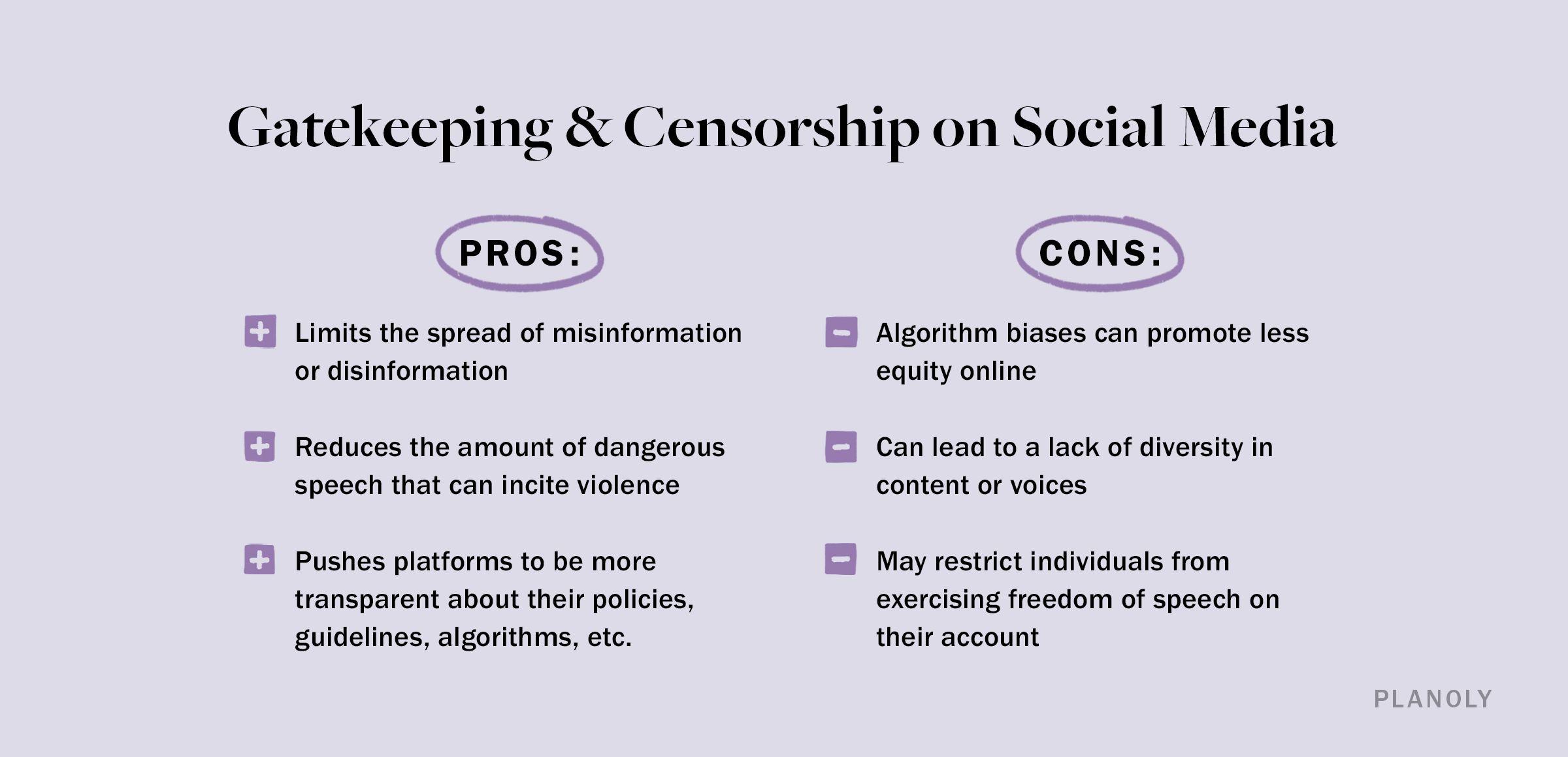 PLANOLY - Blog - Gatekeeping and Censorship in Social Media - Image 3