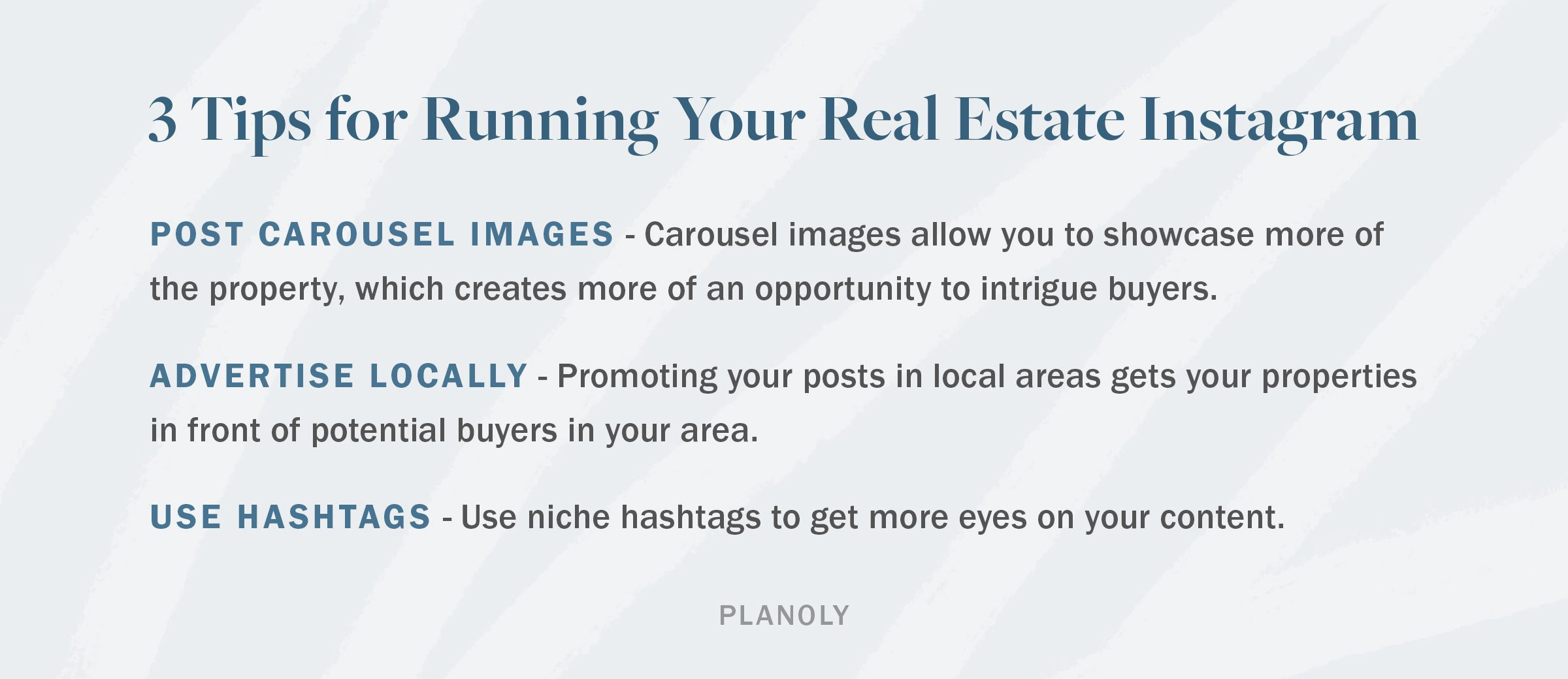 PLANOLY - Blog - Real Estate Social Media Best Practices and Tools - Horizontal - 1-1