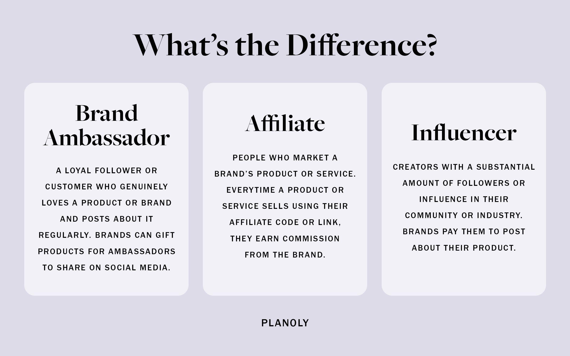 PLANOLY - Blog - What is a Brand Ambassador - Horizontal