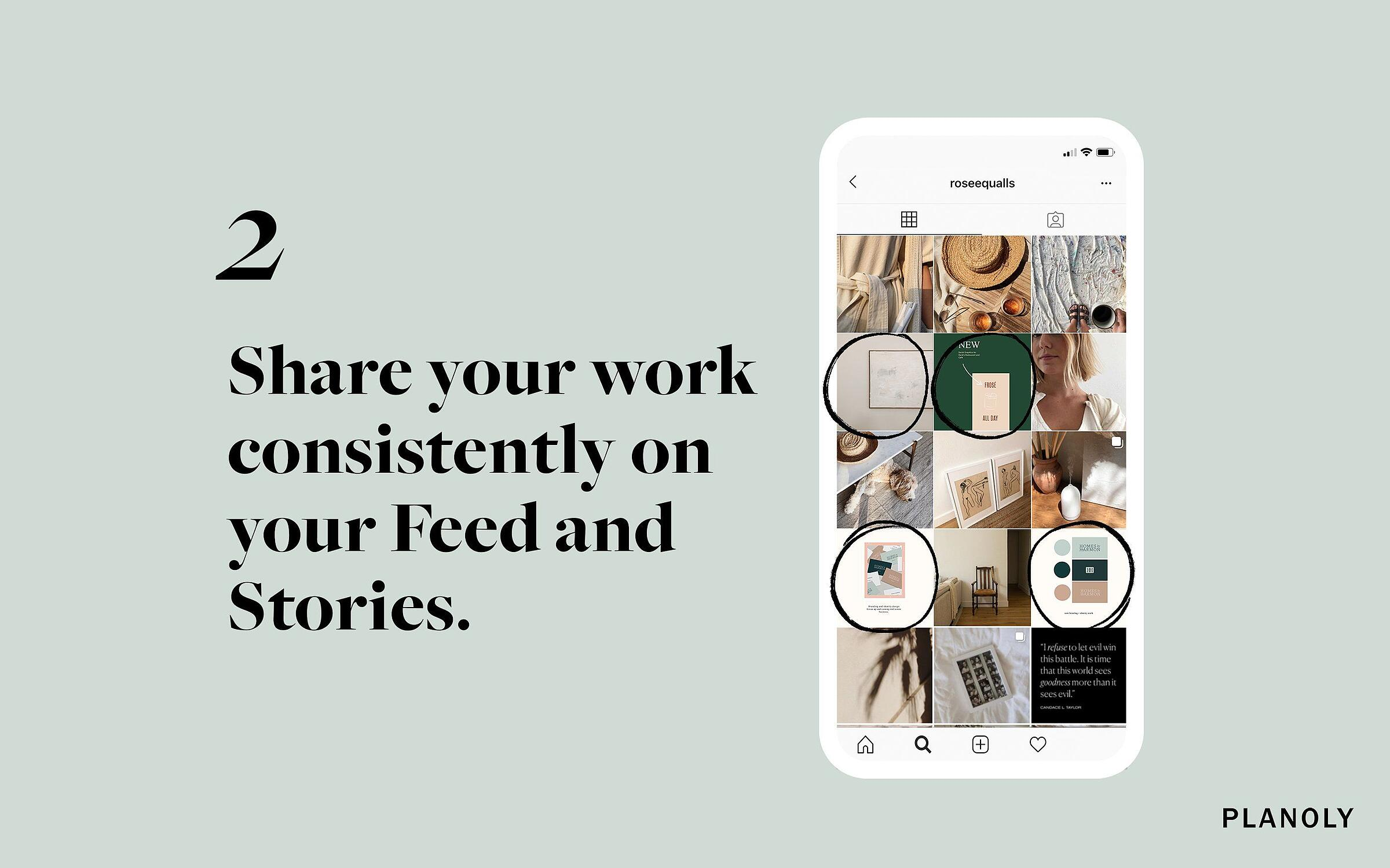 PLANOLY - Blog Post - 4 Easy ways to promote your design work on Instagram - Image 2