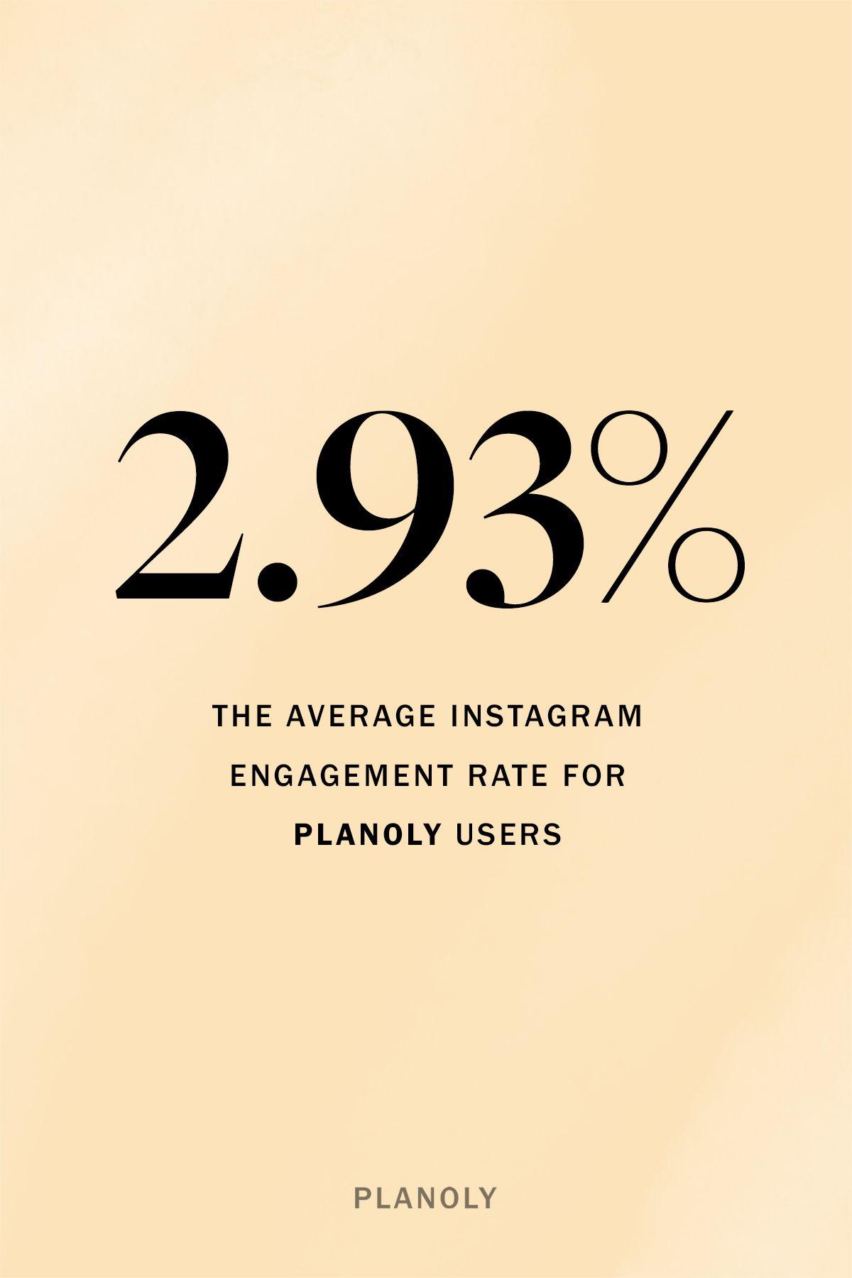 PLANOLY - Blog Post - Instagram Engagement Rates - Image 3