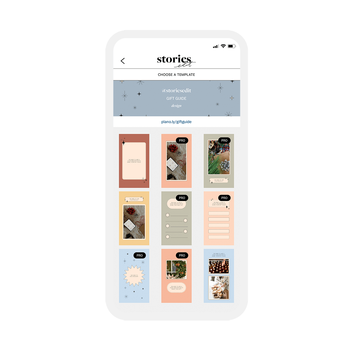 'Gift Guide' collection is available in StoriesEdit