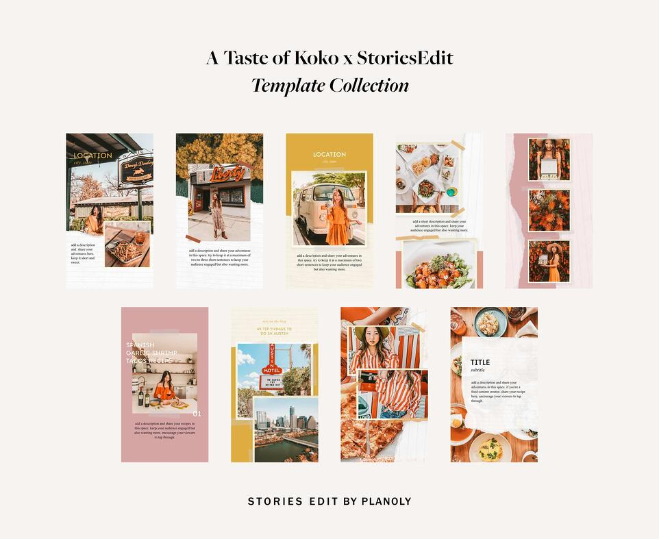 Planoly-Blog-Post-StoriesEdit-A-Taste-of-Koko-Template-Collection-Image-1-2