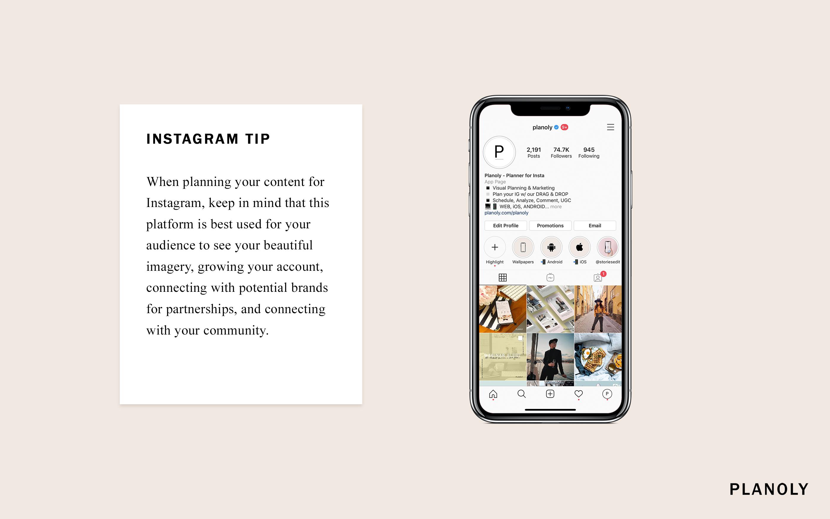 PLANOLY Instagram Tip