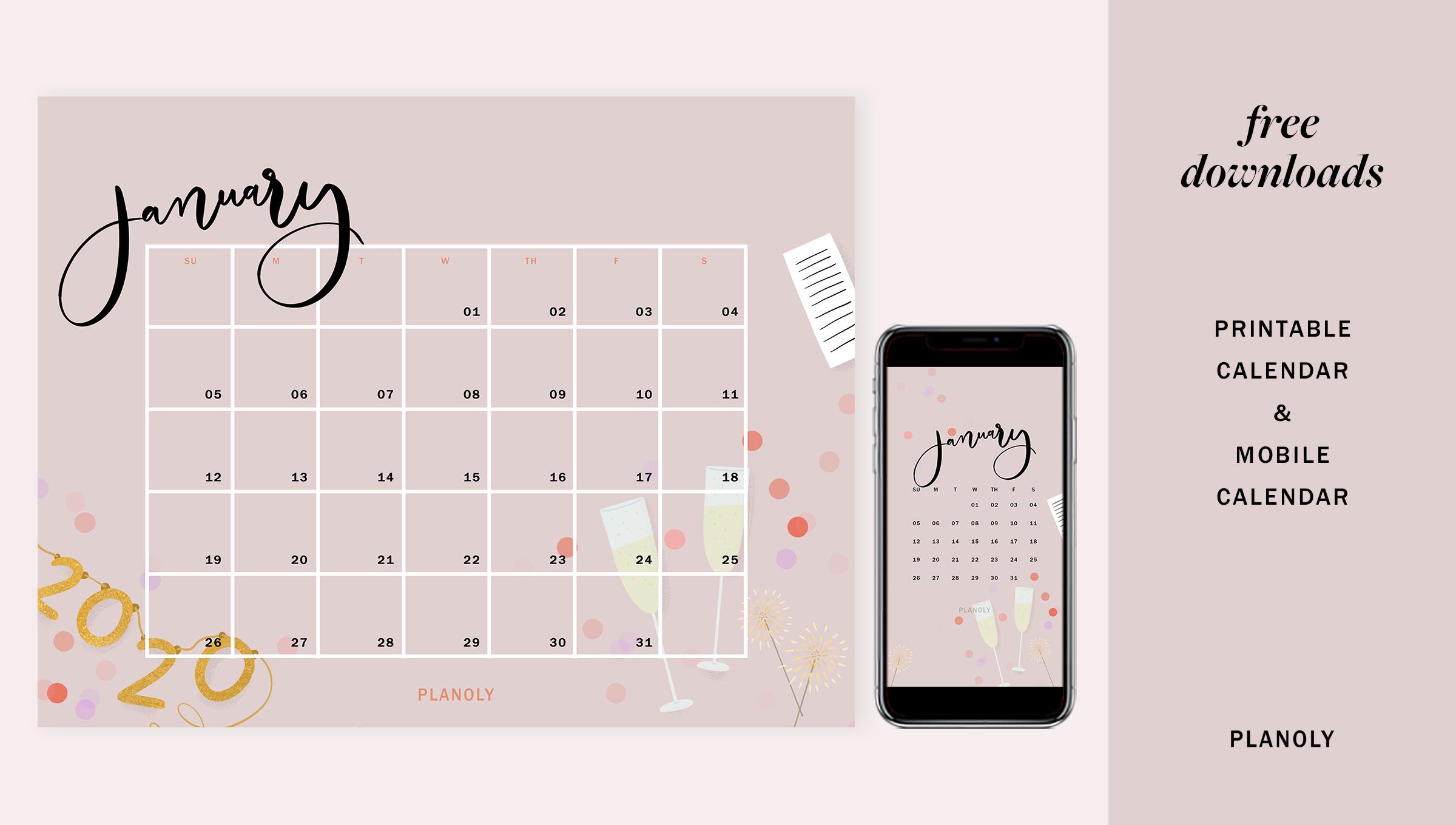Q1 2020 Content Calendars