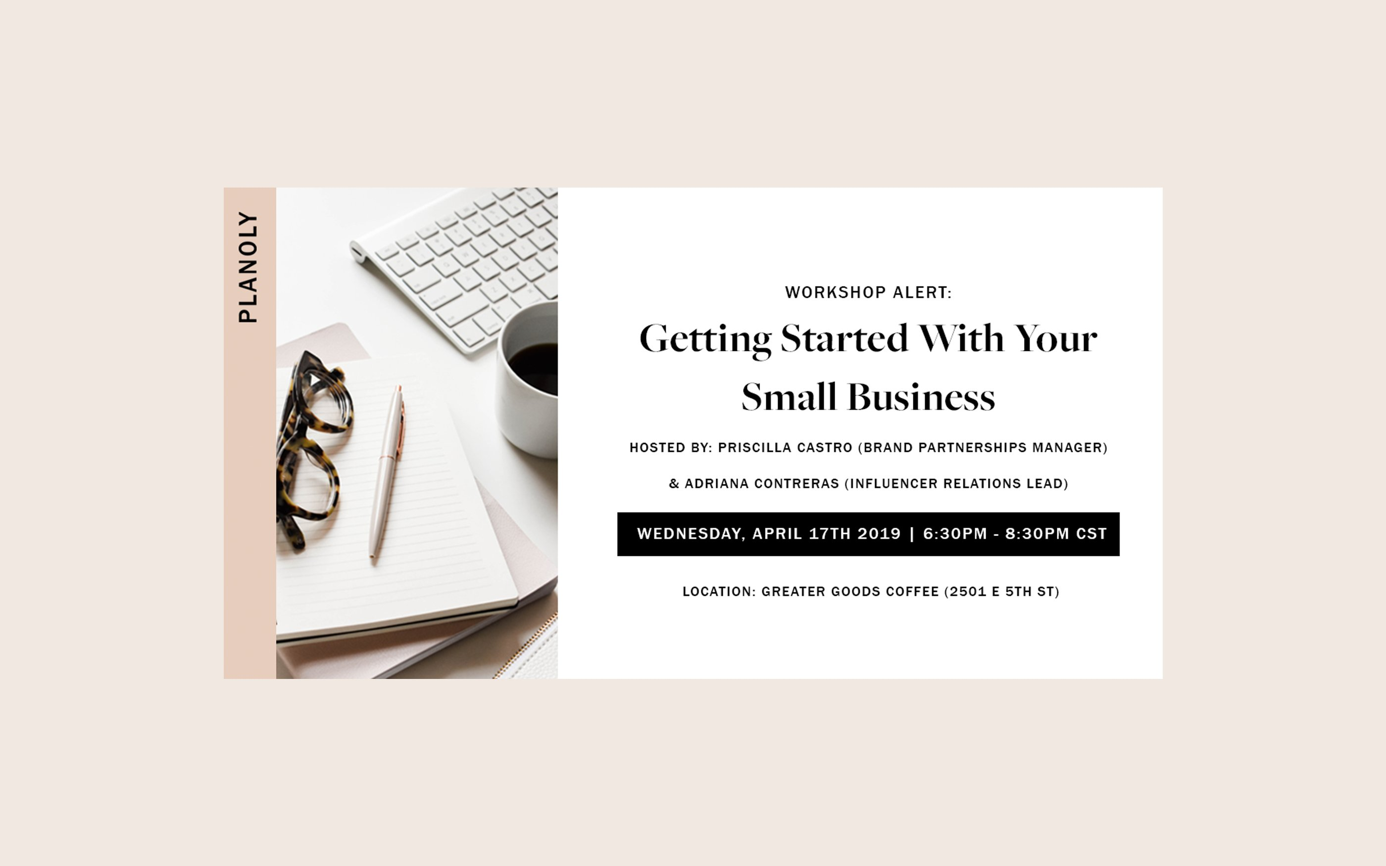 Getting Started With Your Small Business - a PLANOLY Workshop