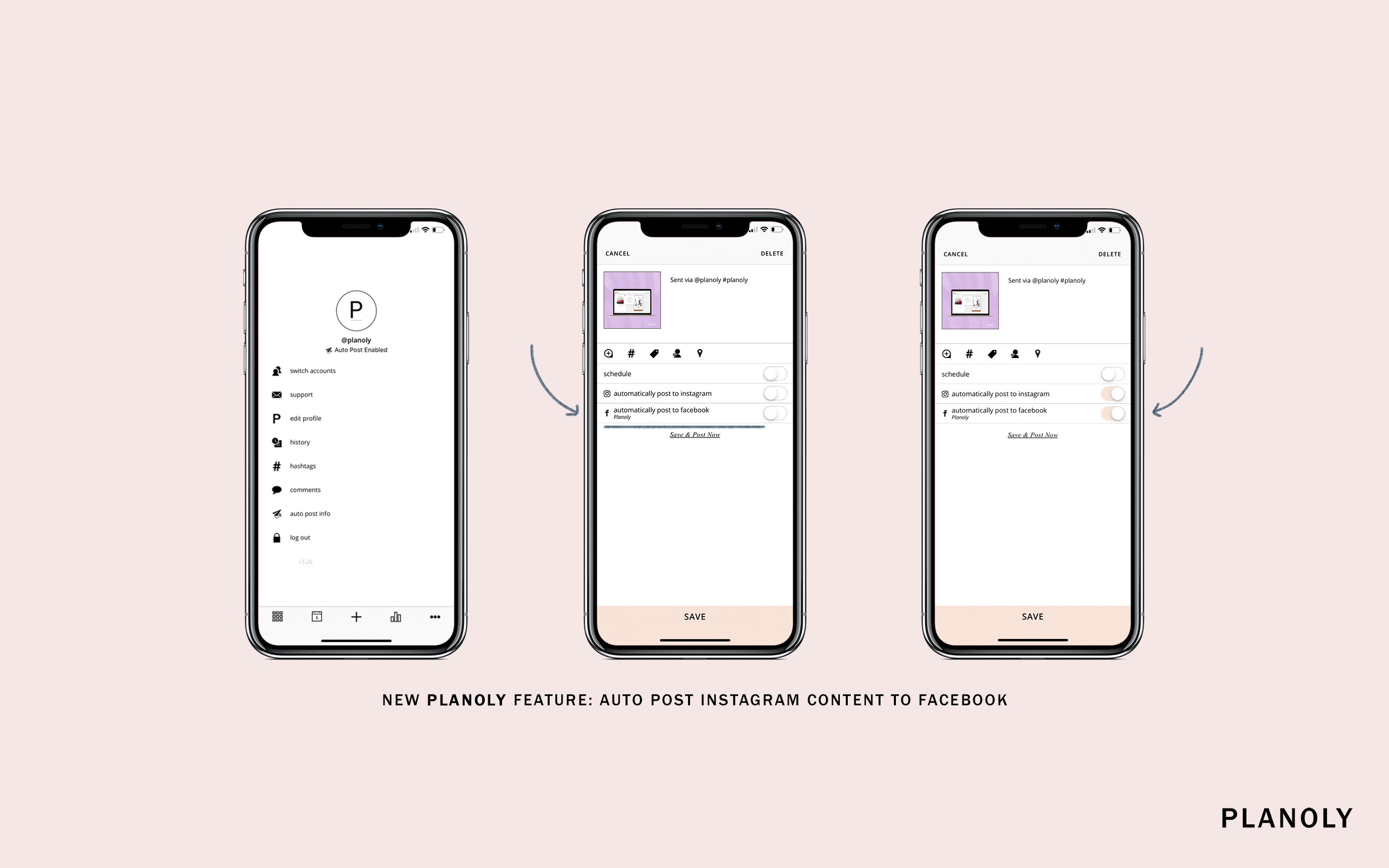 New PLANOLY Feature: Auto Post Instagram Content to Facebook