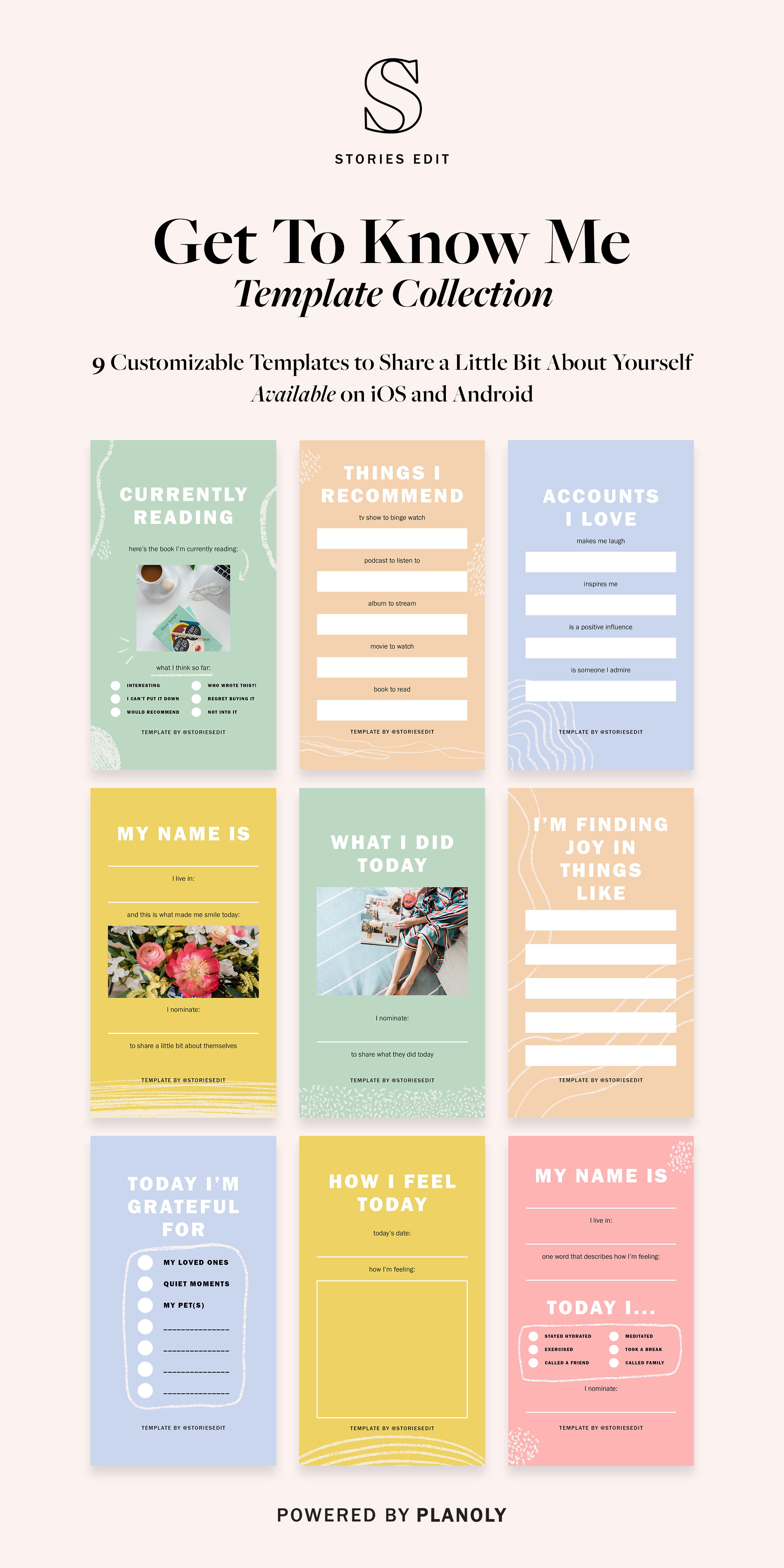9 Free 'Get to Know Me' StoriesEdit Templates for Your Next Instagram Challenge