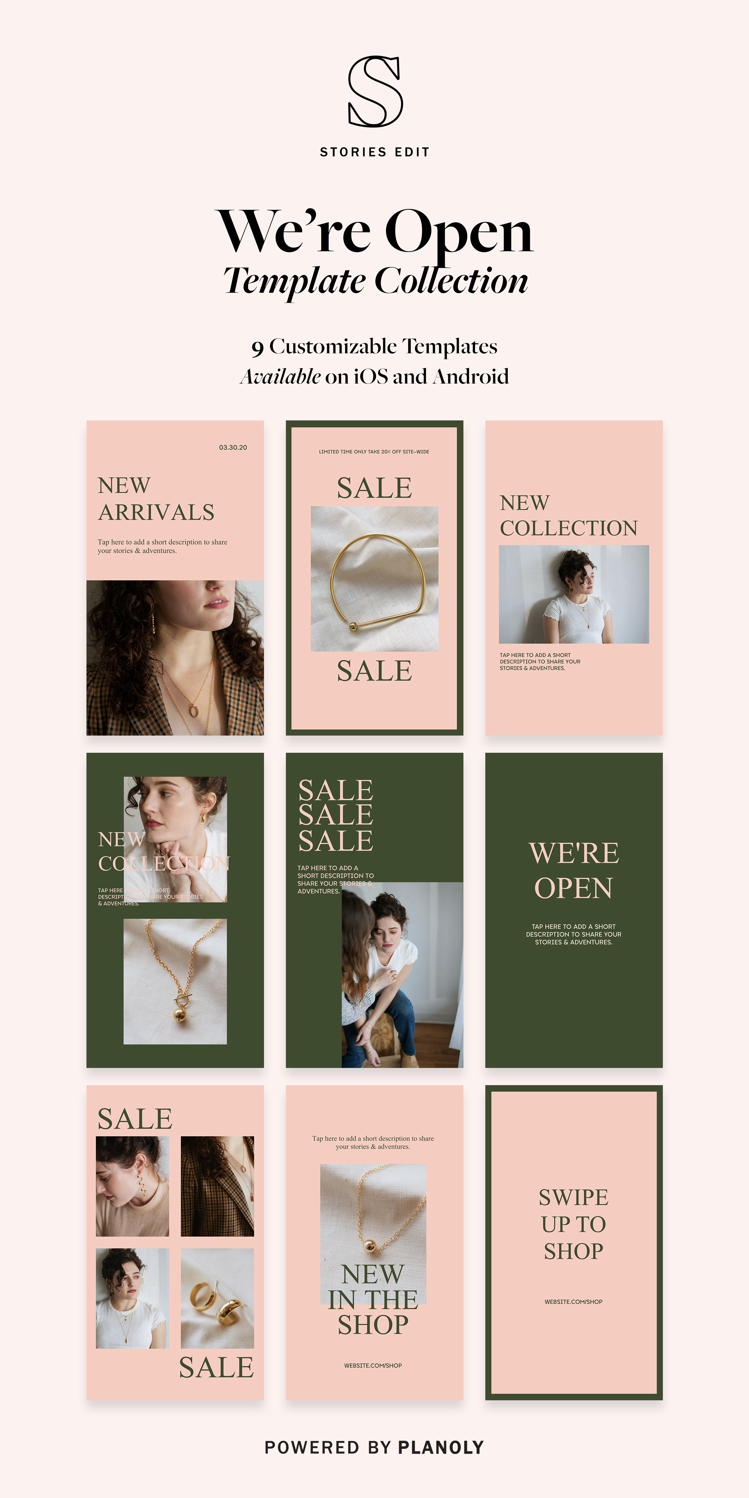 PLANOLY | We're Open Template Collection
