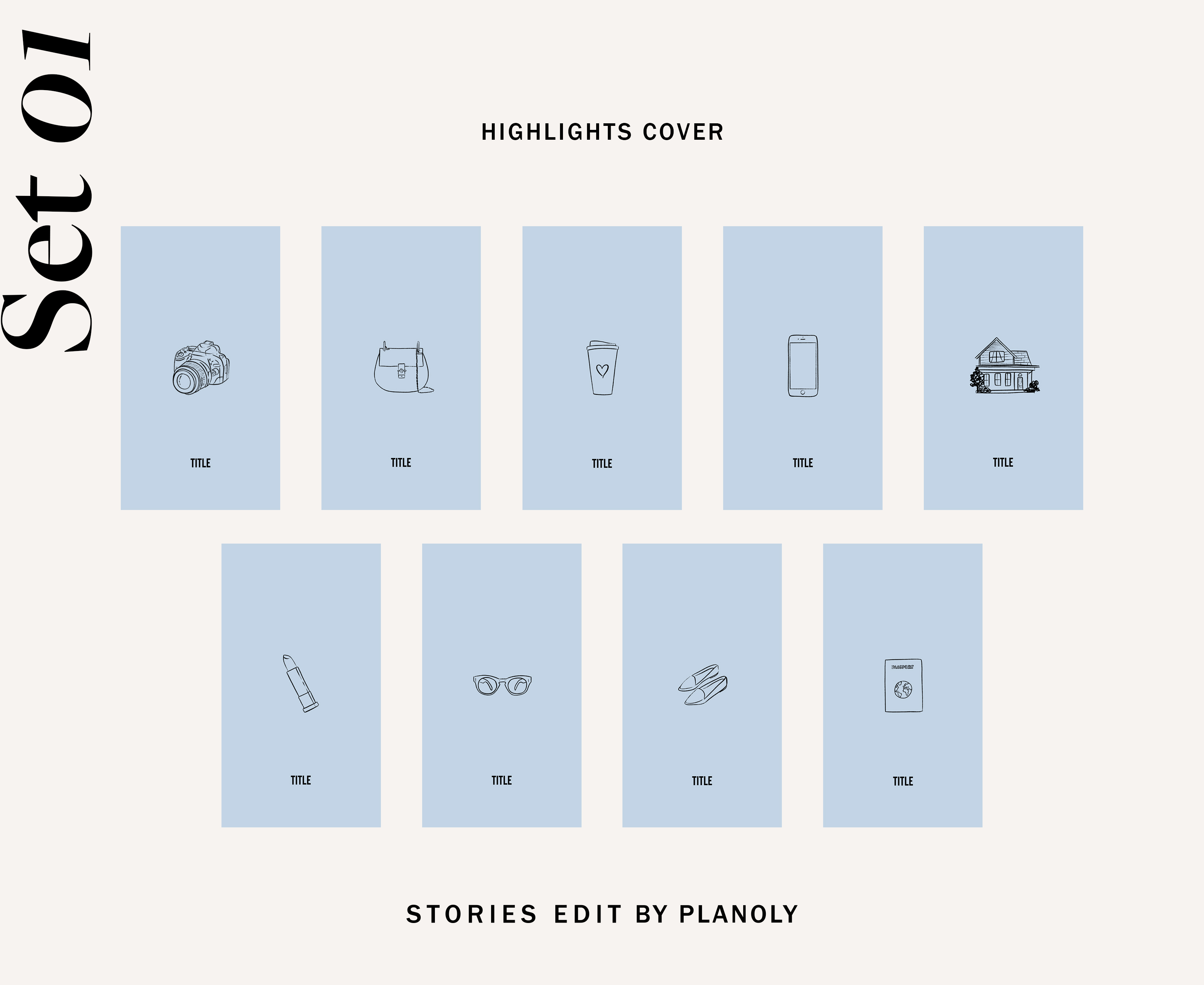 Instagram Highlight Templates by StoriesEdit 01