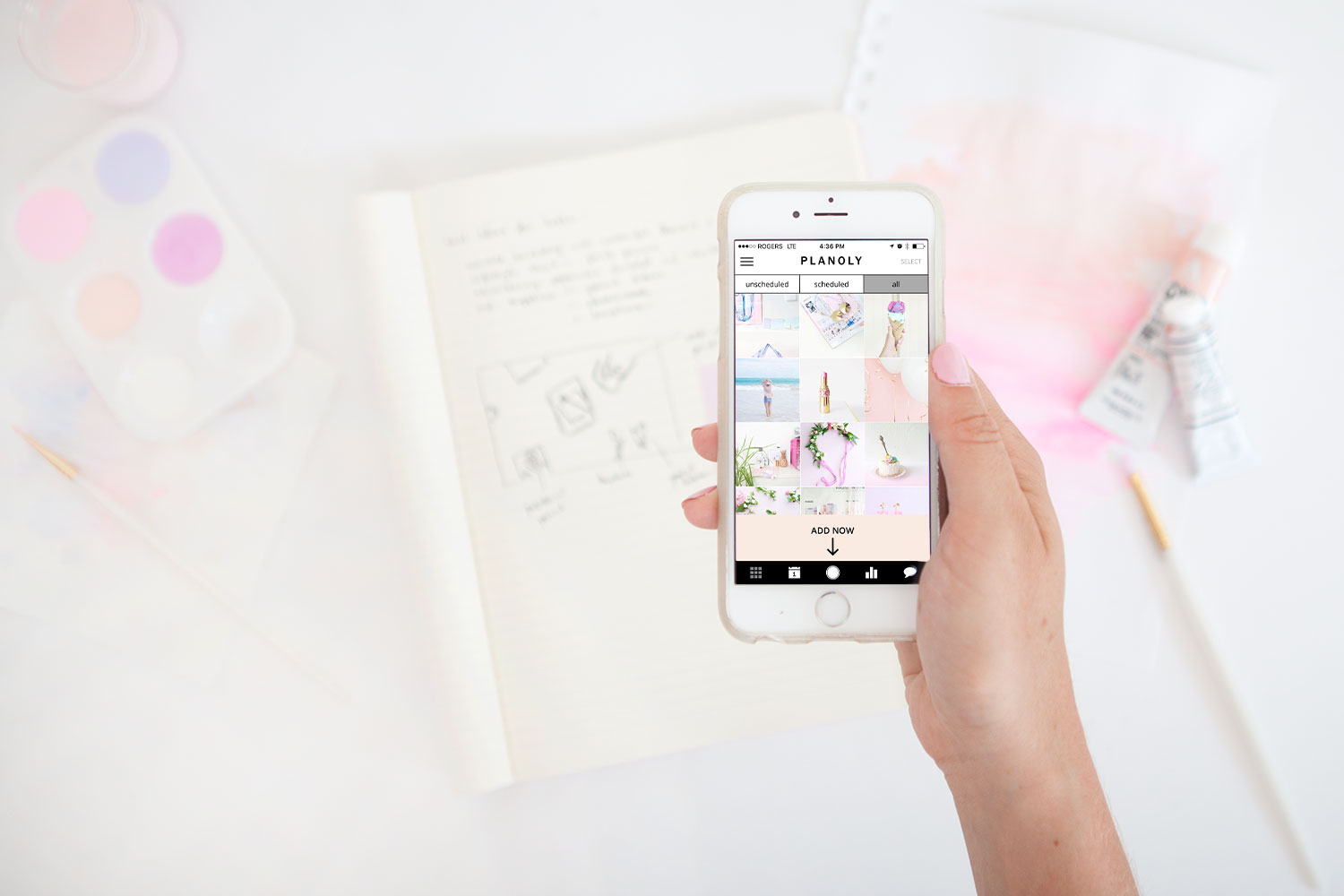 Anatomy of a instagram post by Paige for PLANOLY blog 2