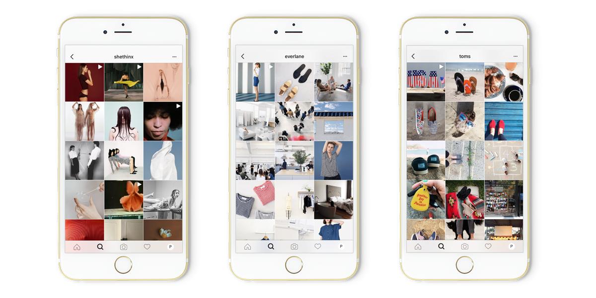 Fashion brands on Instagram Toms Everlane SheThinx