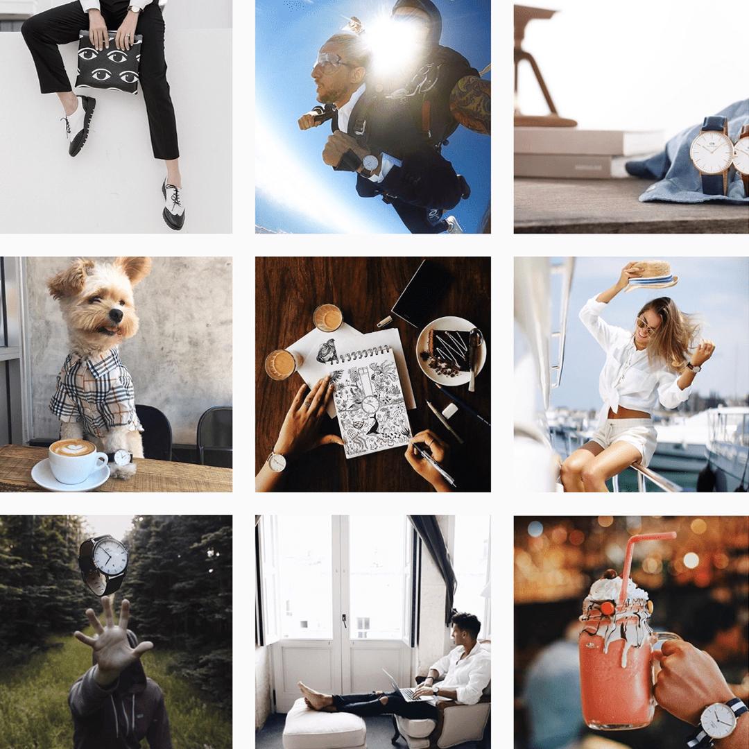 Daniel Wellington & Instagram