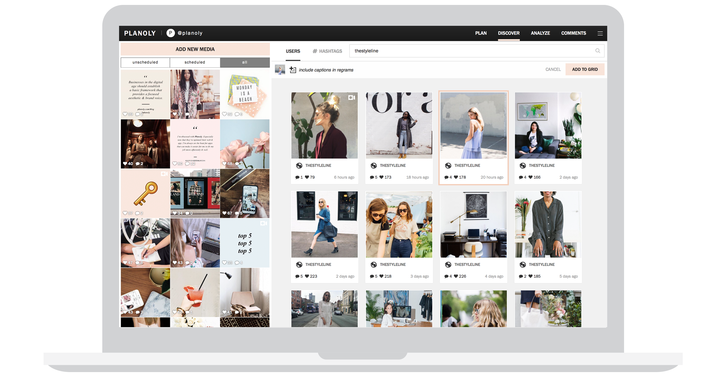 Discover user generated content for instagram on planoly