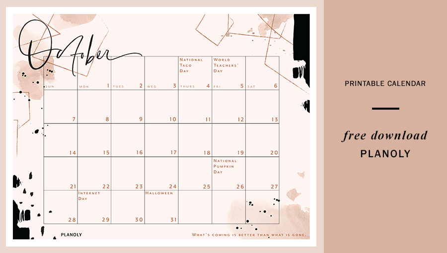 October 2018 Content Calendar