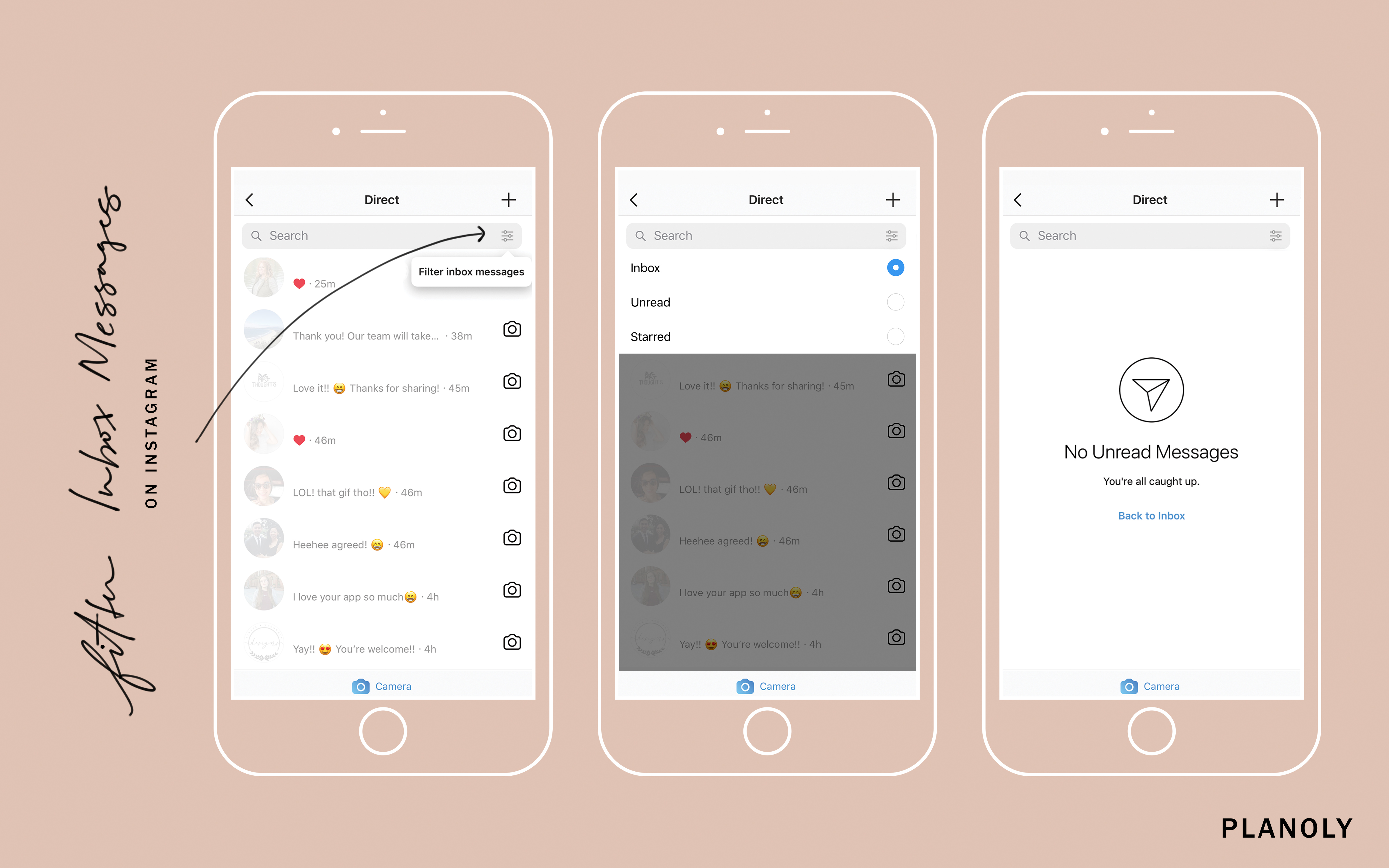 How to Filter and Star Direct Messages on Instagram - PLANOLY - 1