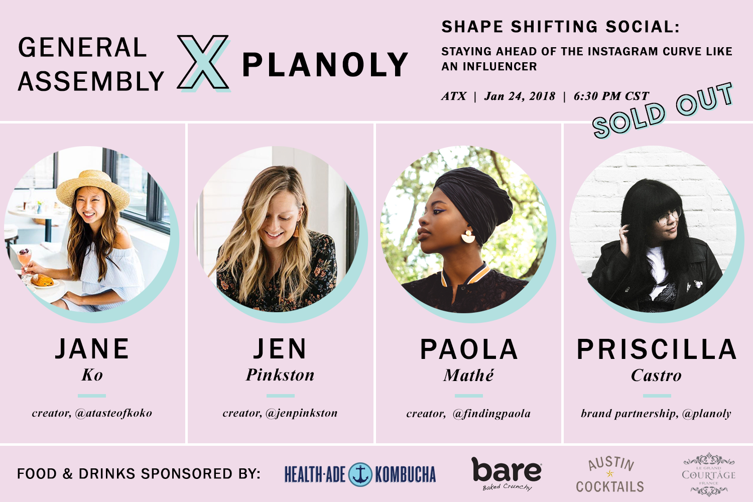 ATX Influencer Panel hosted by General Assembly x PLANOLY