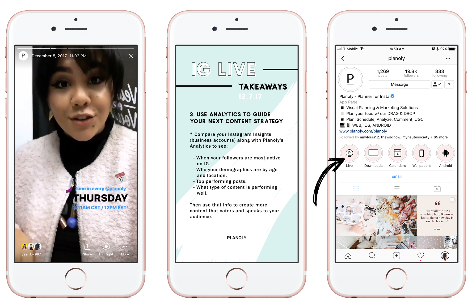 Instagram Stories Live on PLANOLY