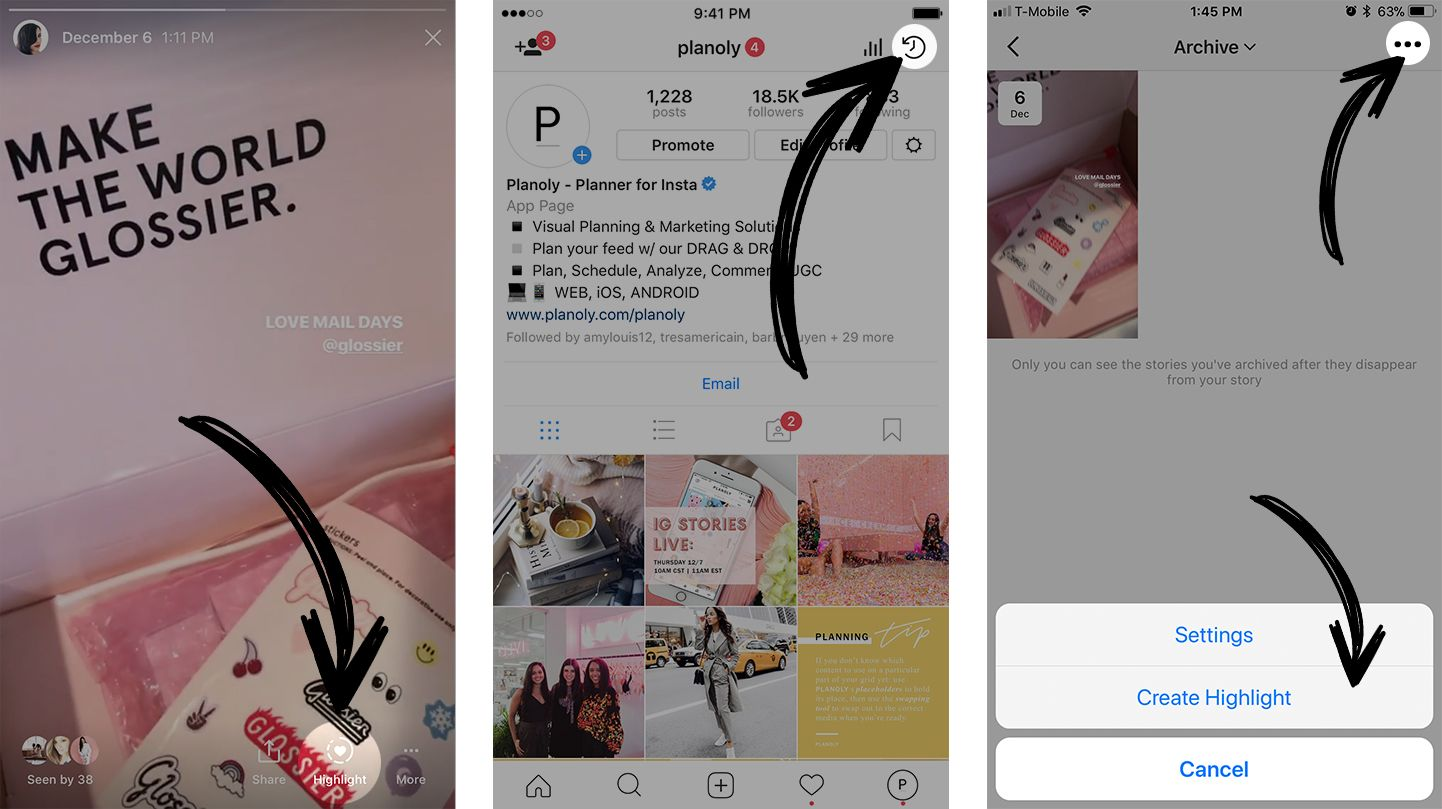 New Instagram Features: Stories Highlights and Stories Archive
