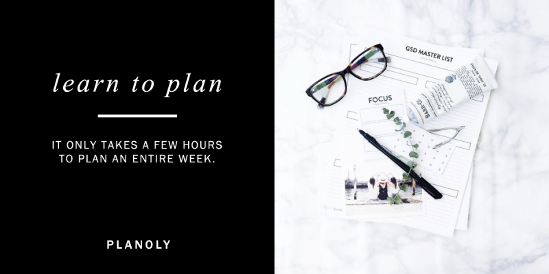 Advice: Learn to Plan