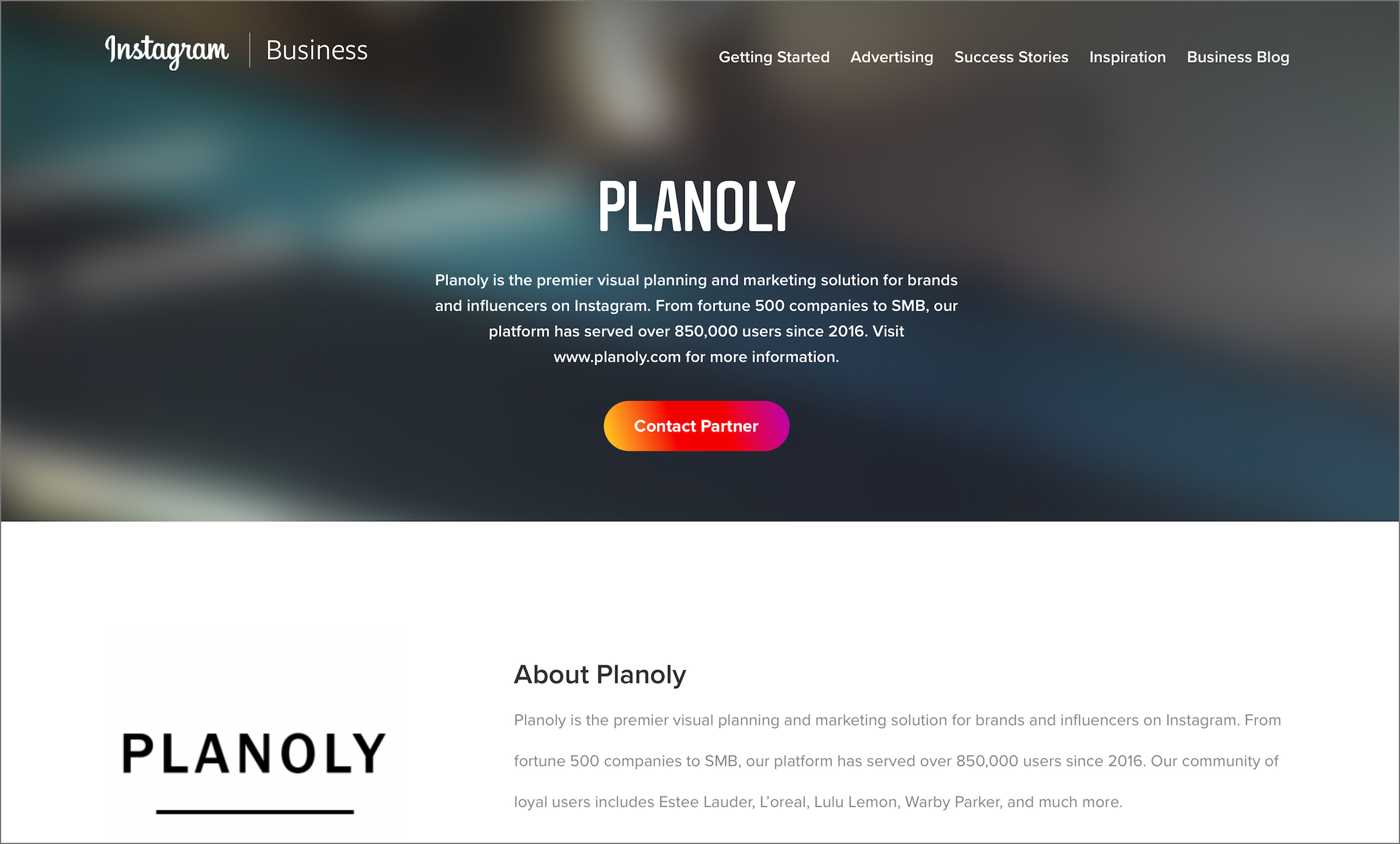 Planoly: An Official Instagram Partner