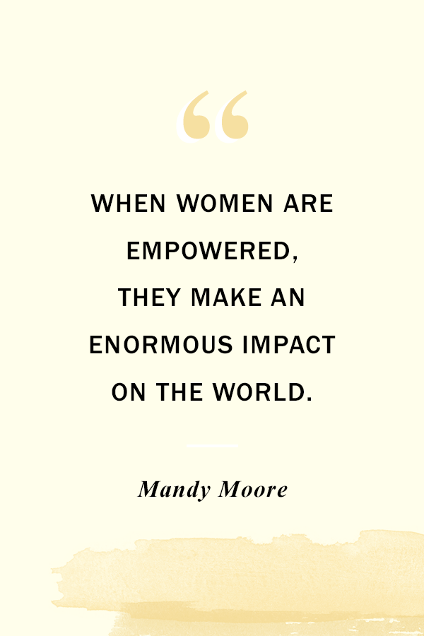 Women's Equality Day - PLANOLY Blog - Mandy Moore