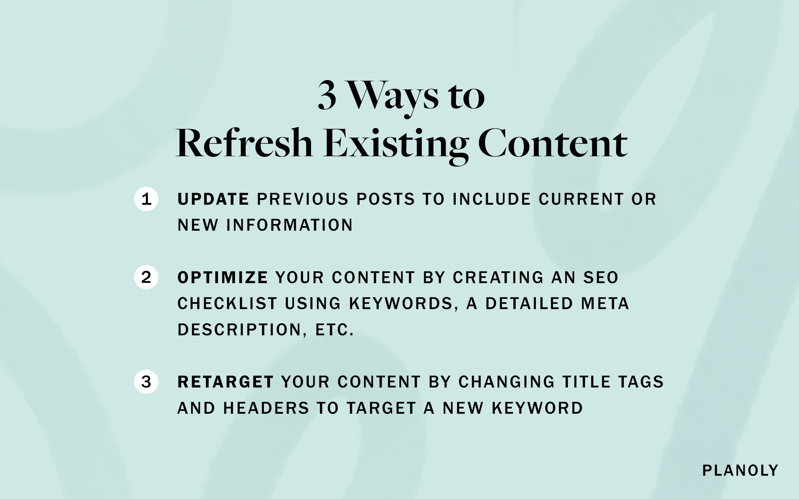 PLANOLY - Blog Post - How to Refresh Existing Content - Image 3