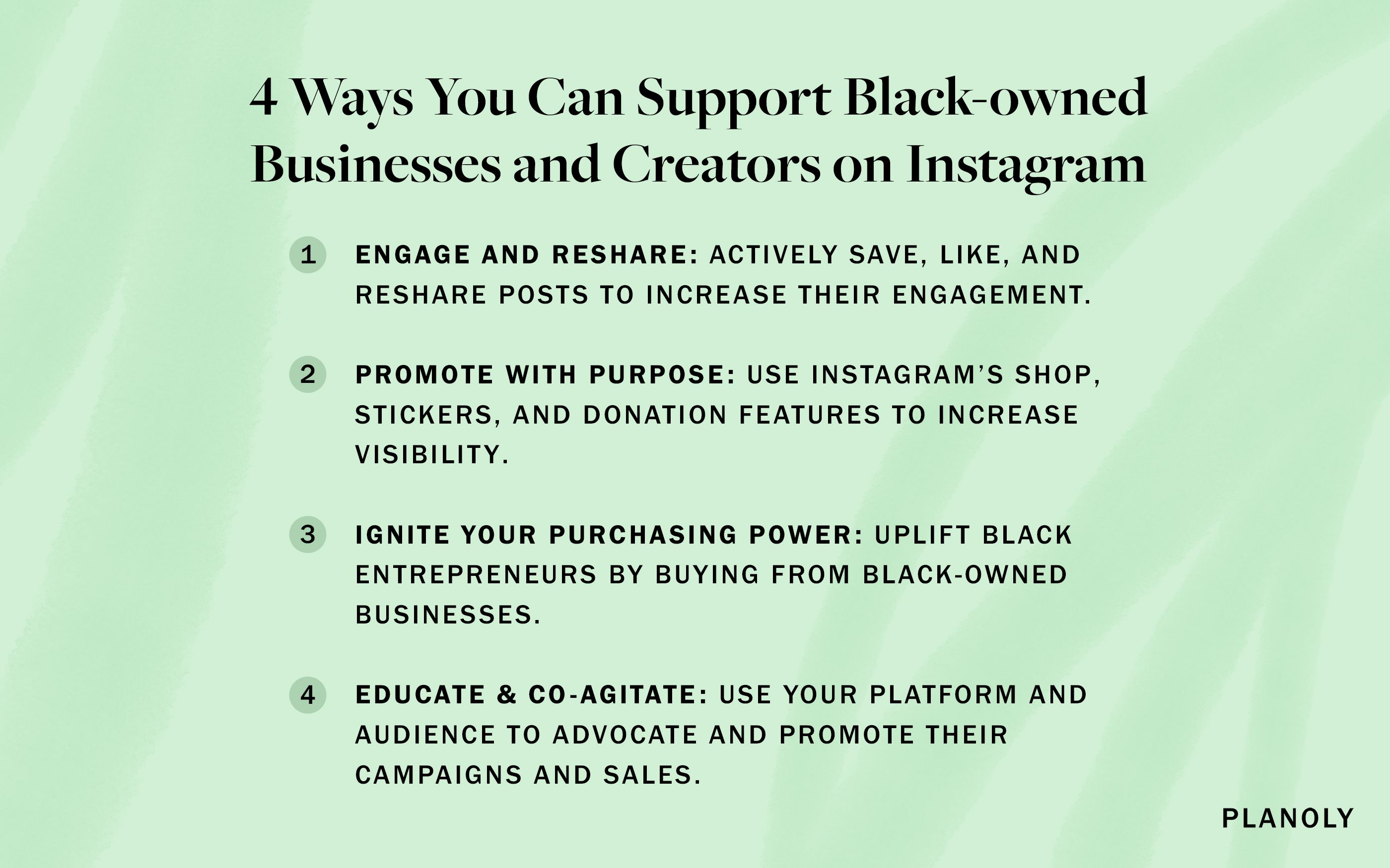 PLANOLY - Blog Post - How to Support Black Businesses - Image 1