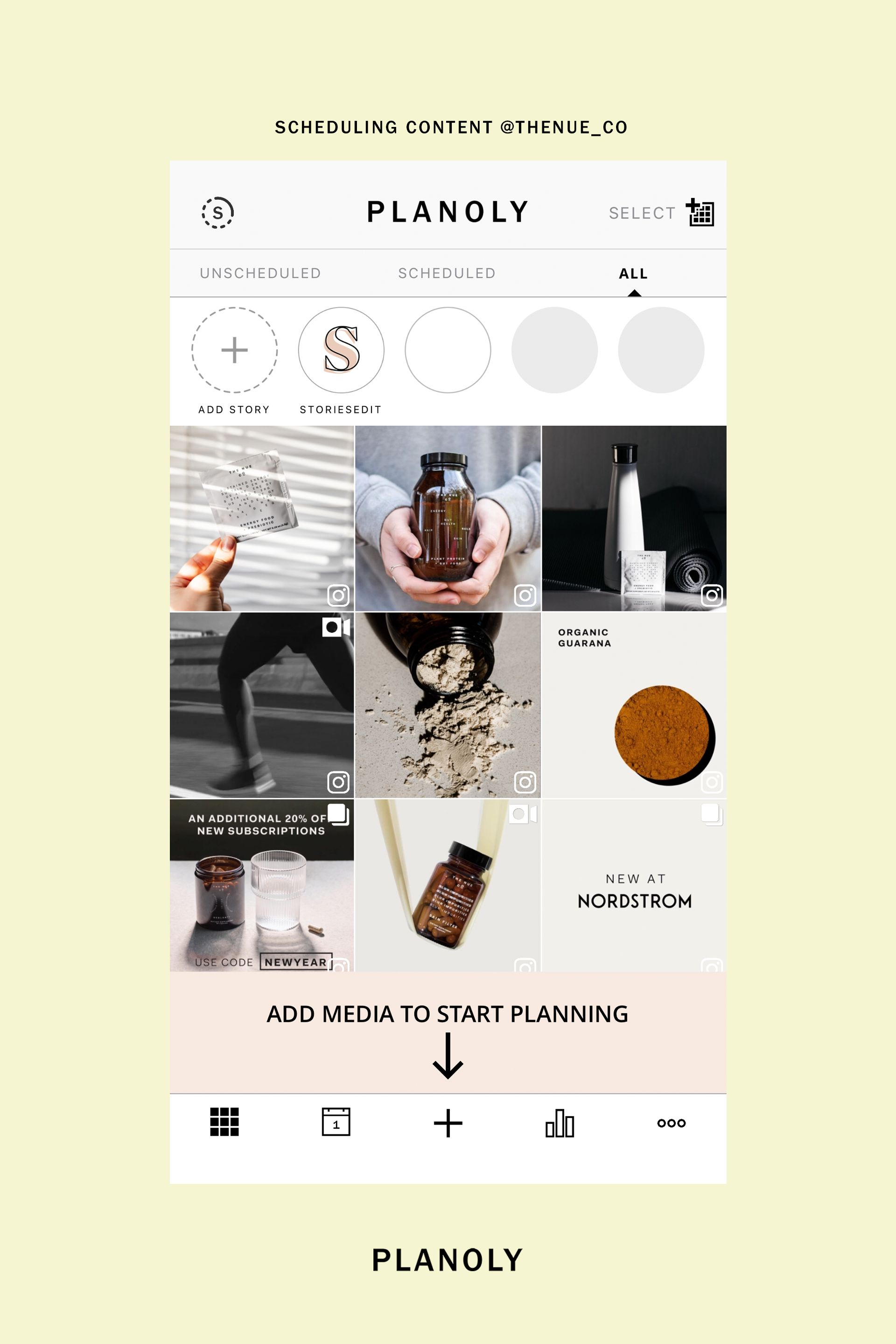 PLANOLY - Blog Post - The Nue Co. Social Media Art Direction - Image 4