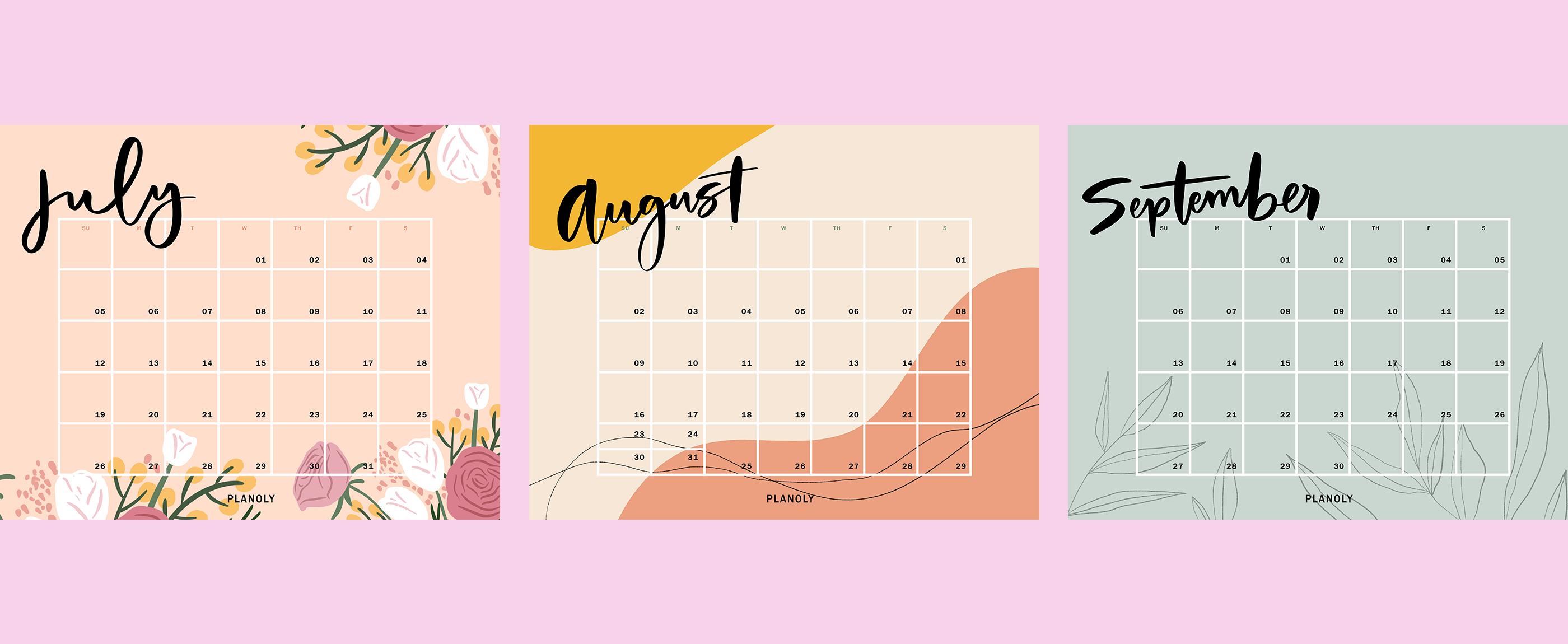Q3 2020 Content Calendars