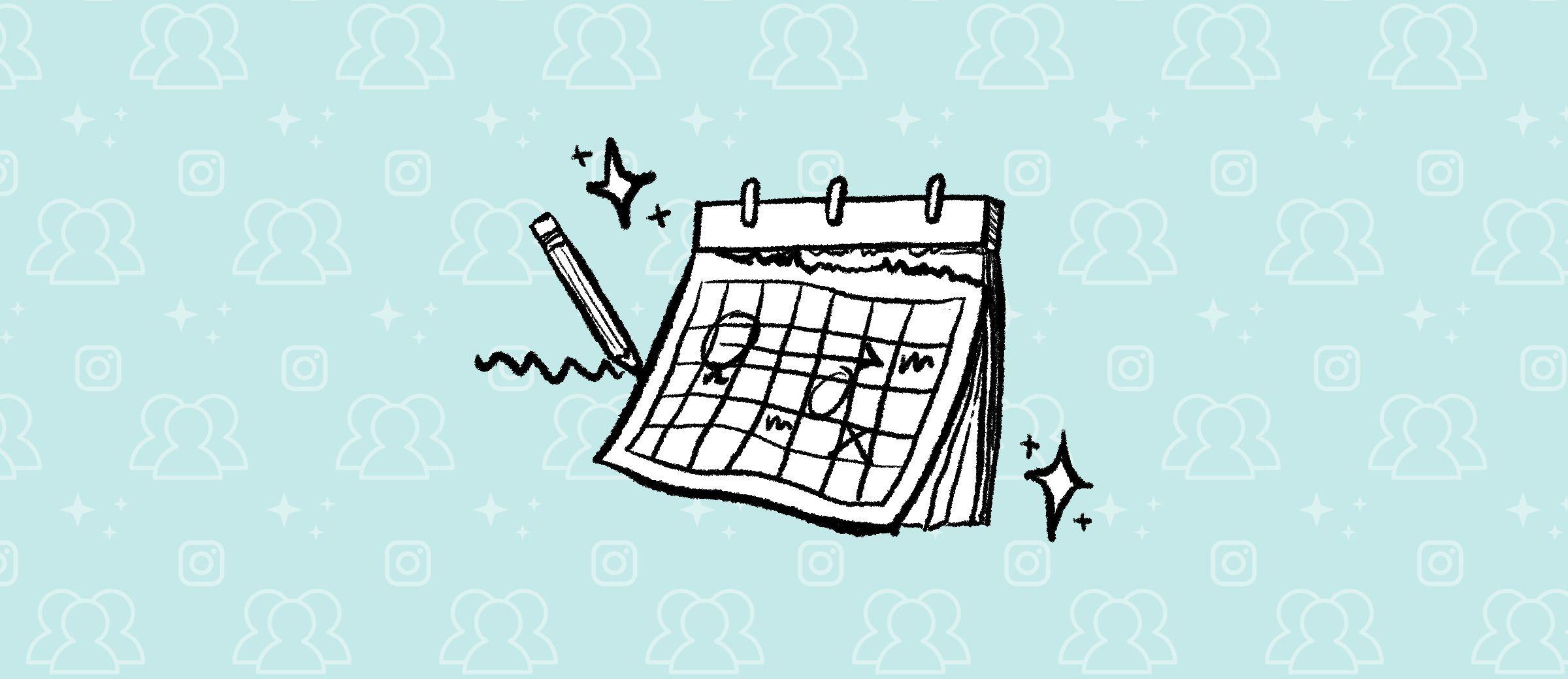 A pencil writing on a calendar
