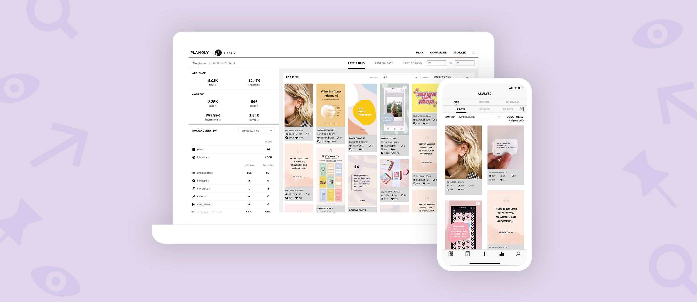 Read about How to Use our Pin Planner's Pinterest Analytics Feature, on PLANOLY