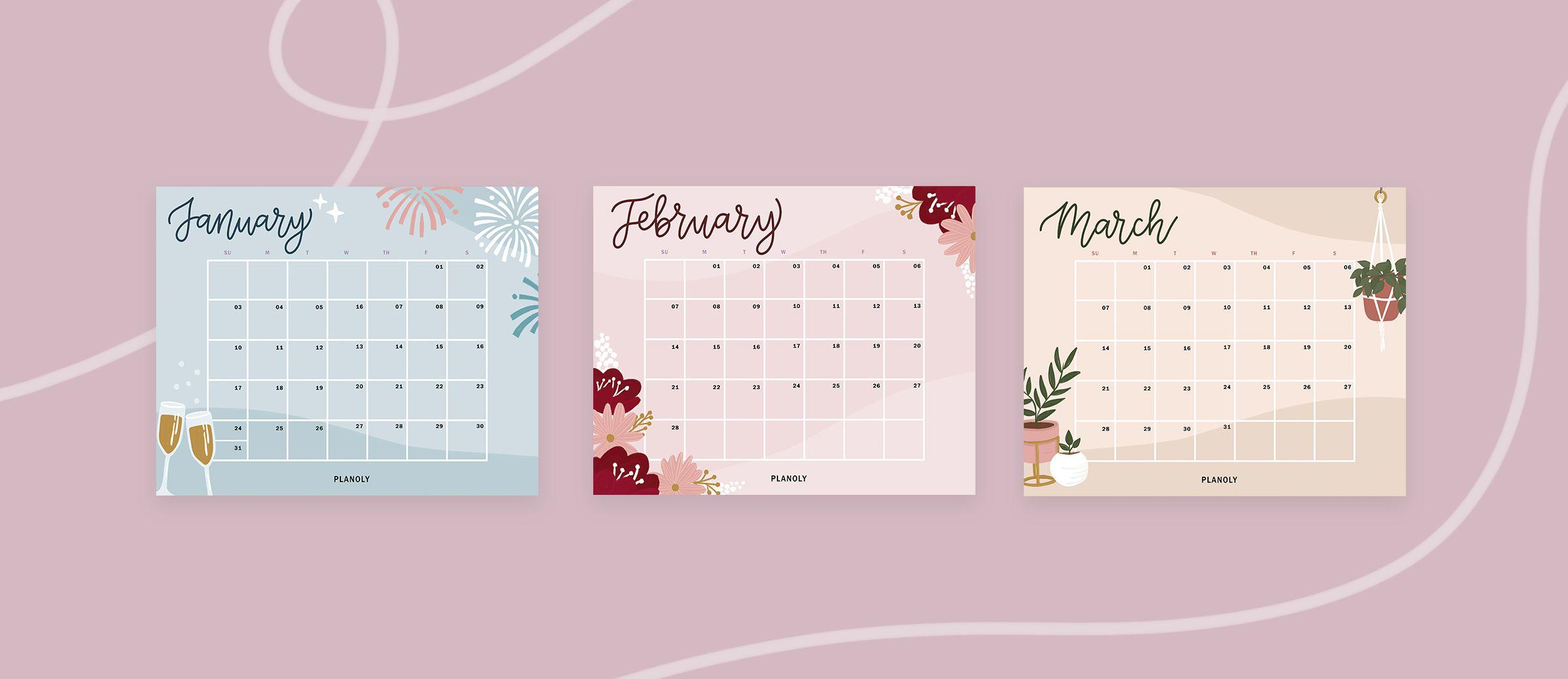 2021 Q1 Social Media Content Calendar Downloadables