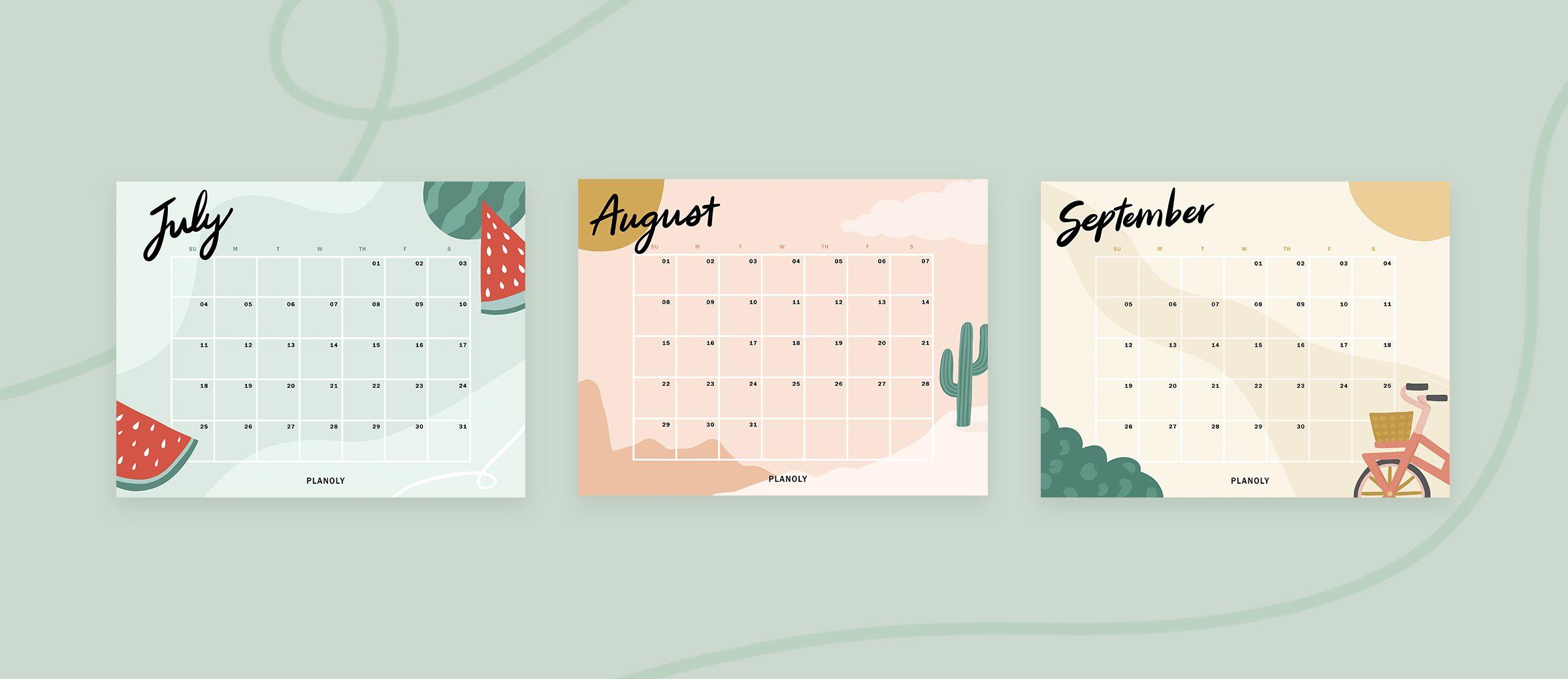 Content Calendar Downloadables for Social Media 2021 Q3