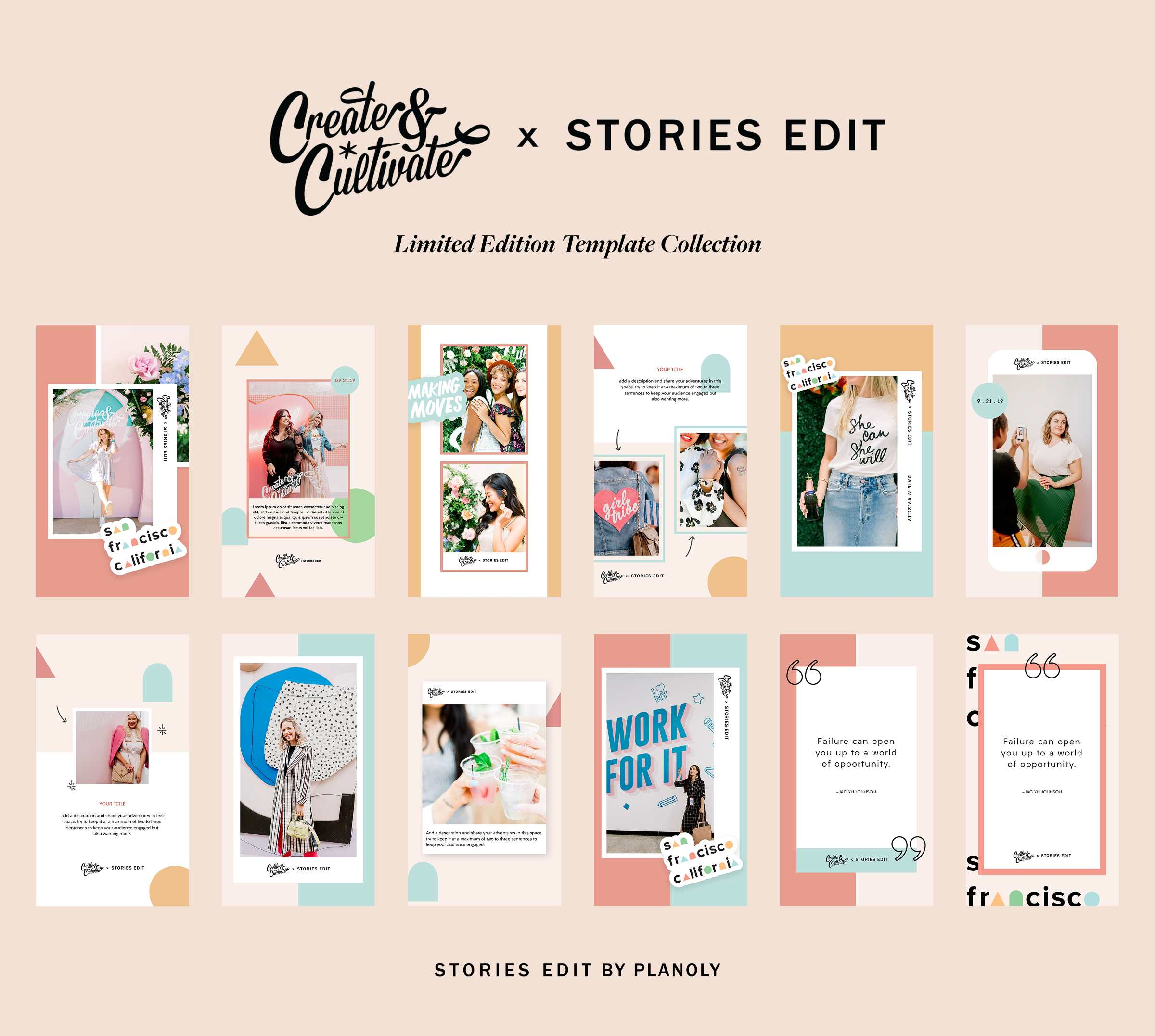 Create & Cultivate x StoriesEdit Template Collection
